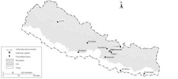 Geografa de Nepal  Wikipedia la enciclopedia libre