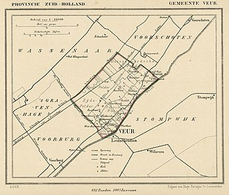 Veur - Map of Veur from 1867.