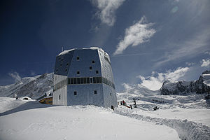 Monte Rosa Hut - View from the west side