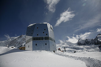 Swiss Alpine Club - Two mountain huts of different generations: the Trient Hut and the Monte Rosa Hut