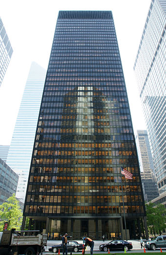 The Seagram Building: Home of Wells Fargo Securities' New York offices and trading floors NewYorkSeagram 04.30.2008.JPG