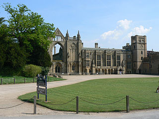 Newstead Abbey historic house museum, home of Lord Byron, in Nottingham, England