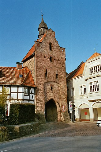 Blomberg, North Rhine-Westphalia - Niederntor, 15th century tower in Blomberg.