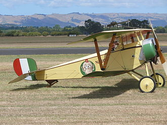 Nieuport 11 - A replica Nieuport 11 in Italian colours