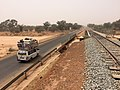 Niger, Guesselbodi (10), road and railway.jpg