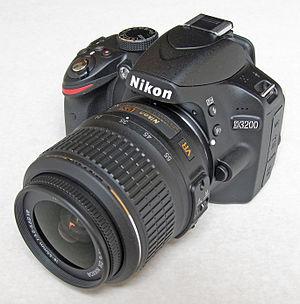 Nikon D3200 - Image: Nikon D3200, front left