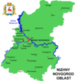 Nizhny Novgorod Oblast map