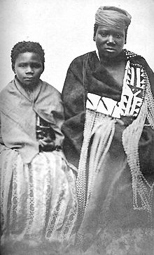 Nongqawuse (right) with fellow prophetess, Nonkos