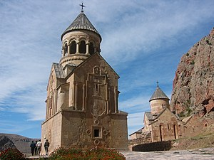 Noravank - Surb Astvatsatsin and Surb Karapet Churches with Surb Grigor's Chapel to the right, Noravank