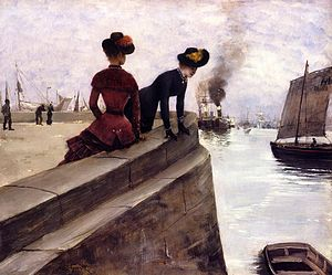 Norbert Goeneutte - Image: Norbert Gœneutte On the Jetty, Le Havre
