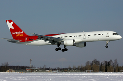 Nordwind Airlines Boeing 757-200 VQ-BBT DME Feb 2009.png