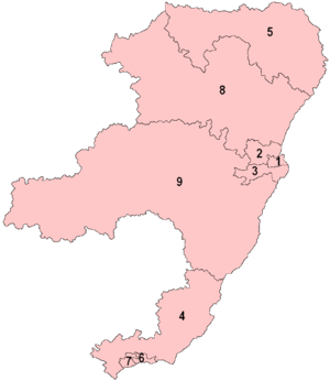 North East Scotland (Scottish Parliament electoral region) - Image: North West Scotland Numberd