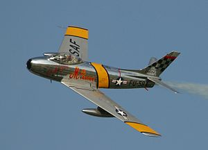 A North American F-86 during the Oshkosh Air Show