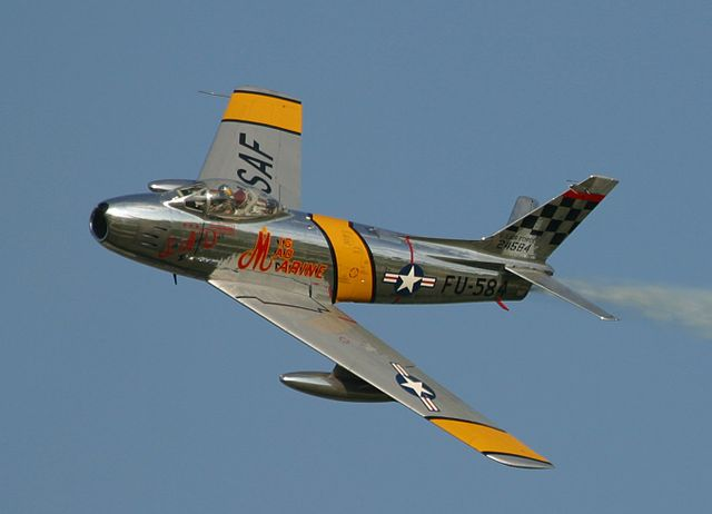 F-86 - rearward swept