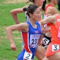 North Koreas Hyo Sim in The Women's 1500m First Round Race in 2017.jpg