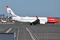 Norwegian (Minna Canth livery), LN-NIF, Boeing 737-8JP (16430620706).jpg