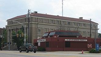 Norwood, Ohio - Norwood Police Department and Norwood Municipal Building on Montgomery Road