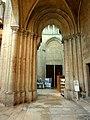 Noyon (60), cathédrale Notre-Dame, bas-côté nord, vue vers l'ouest dans la base du clocher nord.jpg