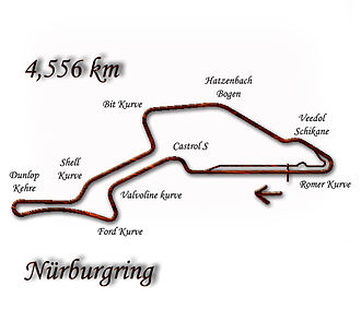 German motorcycle Grand Prix - Image: Nurburgring 1984