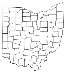 Location of Greentown, Ohio