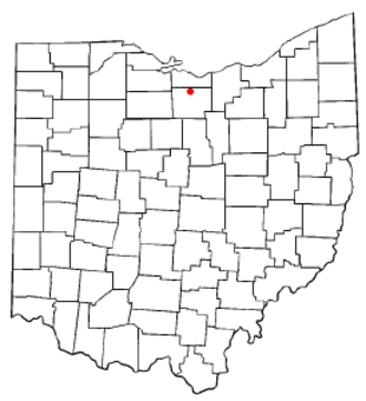 Norwalk, Ohio - Image: OH Map doton Norwalk