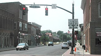 Marysville, Ohio - Intersection of State Routes 31 and 38 in Marysville