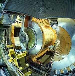 OPAL experiment - OPAL was one of the four large detectors on the Large Electron-Positron collider (1989-2000). The detector was dismantled in 2001 to make way for construction of the Large Hadron Collider (LHC).