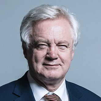 Department for Exiting the European Union - Image: Official portrait of Mr David Davis crop 3