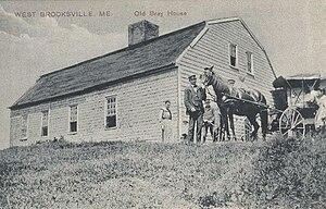 Brooksville, Maine - Image: Old Bray House, West Brooksville, ME