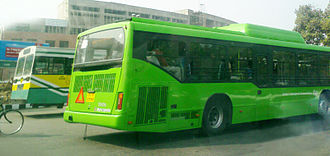 Tata Marcopolo - Image: Old and New DTC Bus