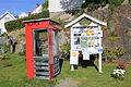 Old read Norwegian telephone box.JPG