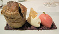 Olive and chive soufflé with curd and tomato sorbet (2994524220).jpg
