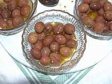 Olive Nera di Gonnos lavorate in verde (