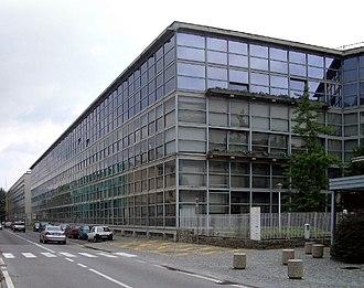 Gino Pollini - Olivetti building in Ivrea, designed by G.Pollini and L.Figini, 1955-1958