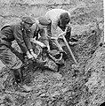 Opgraving neergeschoten vliegtuig in polder bij Waalwijk. Drie RAF-leden met ban, Bestanddeelnr 912-6994.jpg