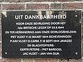 Oploo - Gedenkplaat Tweede Wereldoorlog op de Sint Matthiaskapelop de hoek van de Vloetweg en de Blauwstraat.jpg