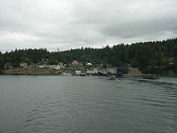 Orcas Village, seen from the water (August 2007)