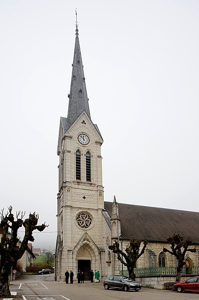 Church of Orchamps-Vennes; department Doubs, France.