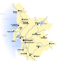 provincia di oristano cartina geografica