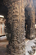Ornate pillars in Bhoganandishvara group of temples-a Hoysala contribution at Chikkaballapur district