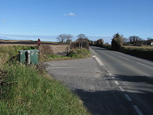 Orrisdale North - The A3 Castletown to Ramsey Road at Orrisdale North with a North-East aspect towards Dub Cottage and Broughjaig Beg, Ballaugh.