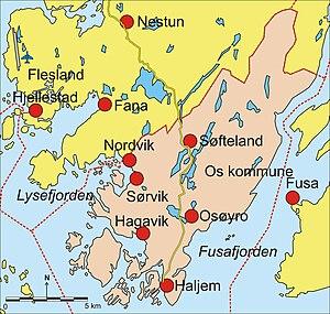 Os, Hordaland - Map of Os