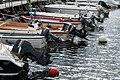 Outboard motors on boats in Norra Hamnen, Lysekil 2.jpg