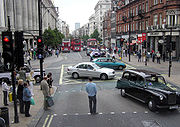 Oxford Street, at a busy junction