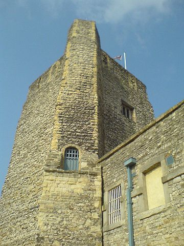 St George's Tower at Oxford Castle, where Stephen almost captured the Empress Matilda Oxford Castle.JPG