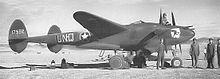 Un P-38F Schierato in Nord Africa