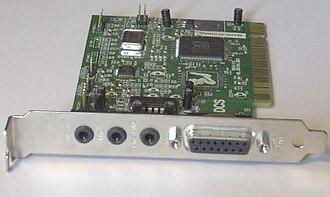 Yamaha XG - A PCI sound card with Yamaha XG YMF724E-V chipset.