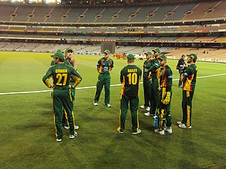 Tasmania cricket team - The Tasmanian Tigers at the 2009/10 Ford Ranger Cup Final. They won the game by 110 runs.