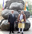 PM and French President at Rock Garden, Chandigarh (24514441590).jpg