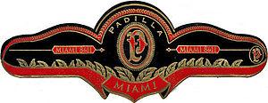 Scan of Padilla Miami cigar band